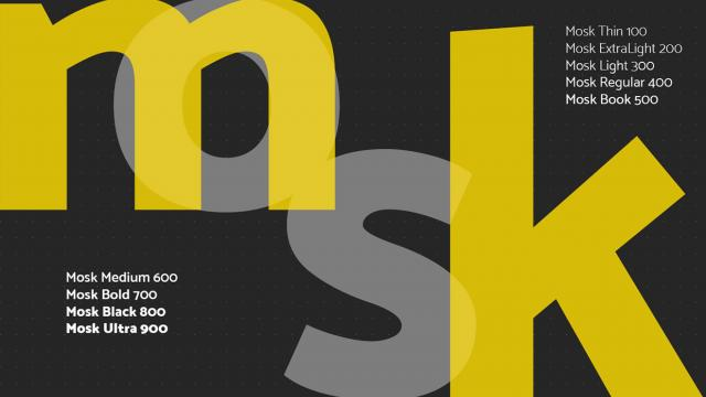 Friday Fresh Free Font - Mosk Typeface