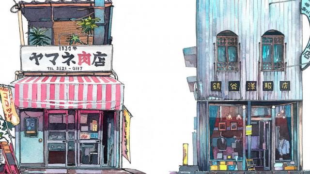 Tokyo Storefronts in Beautiful Watercolor by Mateusz Urbanowicz