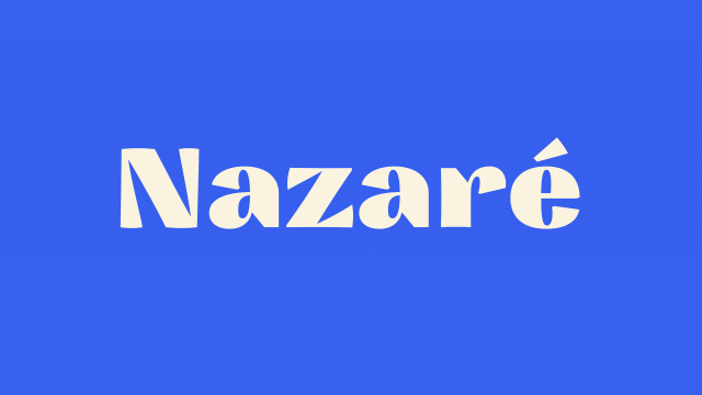 Nazare Typeface Design by Natanael Gama