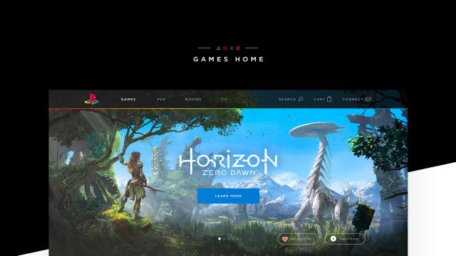 Awesome PlayStation Store Web Design by Julian Kraske
