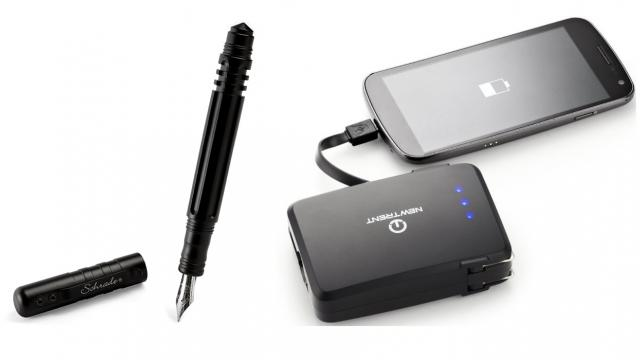 The Perfect Office - Tactical Fountain Pen, iPhonebooster, Boom Freaq and more