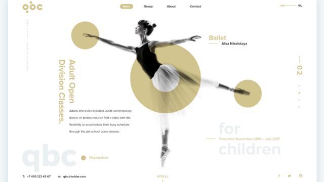 QBC dance studio - UI/UX