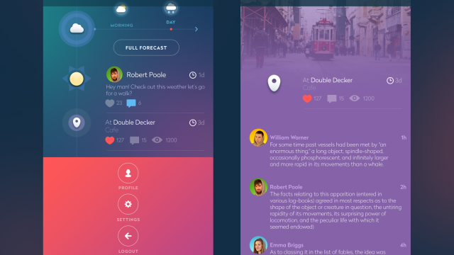 UI Inspiration: Mobile Interactions