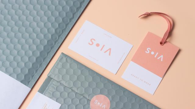 Elegant Brand Identity for the Fashion Brand SOIA