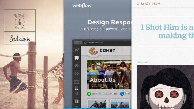 Sites of the Week: Webflow, I Shot Him, Solasié and more