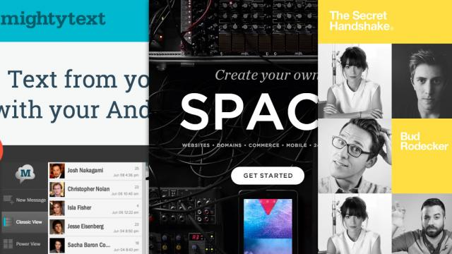 Sites of the Week: MightyText, Squarespace, NAV and more