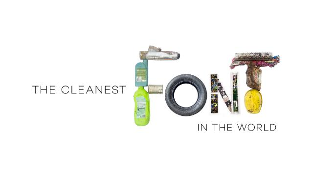 The Cleanest Font In The World – Typography made from trash