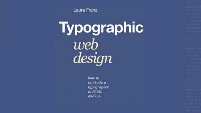 Typographic Web Design: How to Think Like a Typographer in HTML and CSS - Book Suggestion