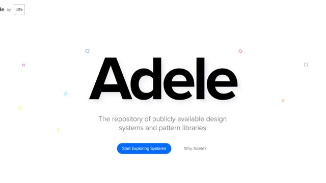 UXPin is introducing Adele: The repository of publicly available design systems and pattern libraries