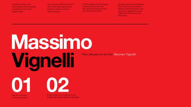 5 Lessons from Massimo Vignelli