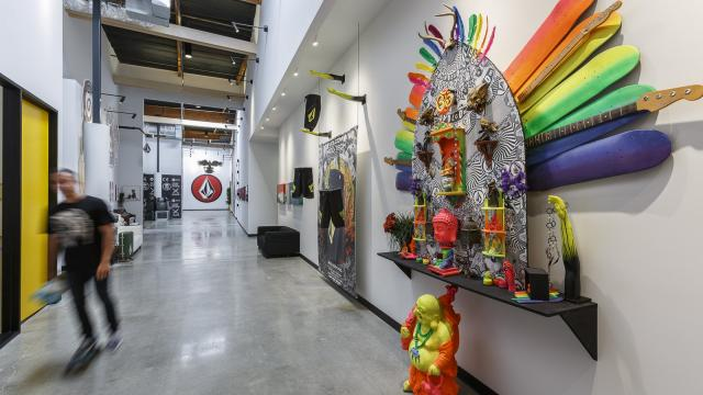 Street and Industrial Style at the Volcom Offices