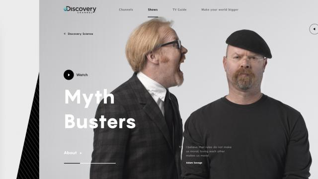 Bold Web Design Concept for Discovery Channel