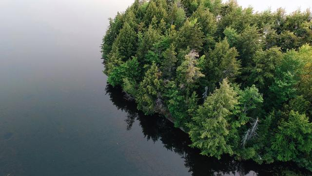 Wallpaper of the Week - Denison Lake from Bird's-Eye View